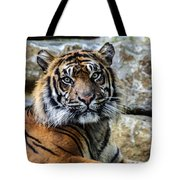 Tiger Facing The Crowd Tote Bag