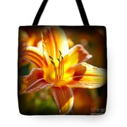Tiger Lily Flower Tote Bag