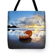 Tiger Nautilus Sunrise Tote Bag