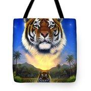 Tiger Of The Lake Tote Bag
