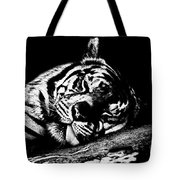 Tiger R And R Black And White Tote Bag