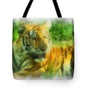 Tiger Resting Photo Art 01 Tote Bag
