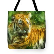 Tiger Resting Photo Art 02 Tote Bag