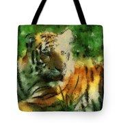 Tiger Resting Photo Art 03 Tote Bag