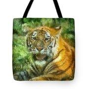 Tiger Resting Photo Art 05 Tote Bag