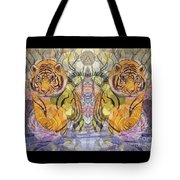 Tiger Spirits In The Garden Of The Buddha Tote Bag