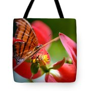 Tiger Stripped Butterfly Tote Bag