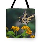 Tiger Swallowtail And Lantana Tote Bag