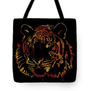 Tiger Watercolor - Black Tote Bag