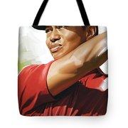 Tiger Woods Artwork Tote Bag