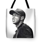 Tiger Woods Driven Tote Bag by Devin Millington