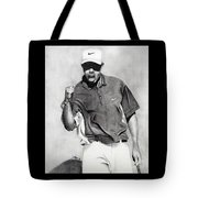 Tiger Woods Pumped Tote Bag by Devin Millington