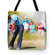 Tiger Woods - The British Open Golf Championship Tote Bag