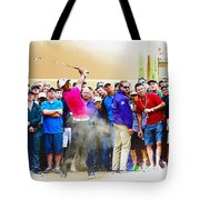 Tiger Woods - The Waste Management Phoenix Open At Tpc Scottsdal Tote Bag