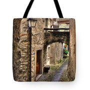 Tight Alley With A Bridge Tote Bag