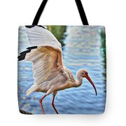 Tightrope Walking Ibis Tote Bag