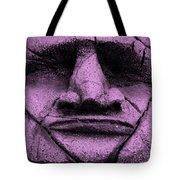 Tiki Mask Pink Tote Bag