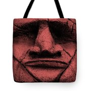 Tiki Mask Salmon Tote Bag
