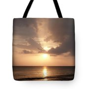 Tiki Sunset 1 Tote Bag