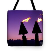 Tiki Torches Tote Bag