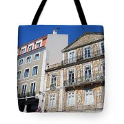 Tiled Building In Chiado District Of Lisbon Tote Bag