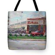 Tim Hortons By Niagara Falls Blvd Where I Have My Coffee Tote Bag