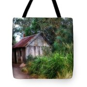 Timber Shack Tote Bag by Kaye Menner