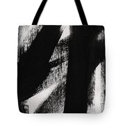 Timber- Vertical Abstract Black And White Painting Tote Bag