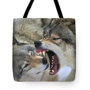 Timber Wolves Play Tote Bag