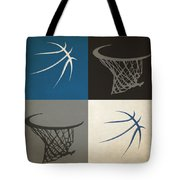 Timberwolves Ball And Hoop Tote Bag