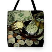 Time And Money Tote Bag