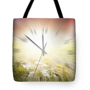 Time Blurred Tote Bag