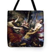 Time Defeated By Hope Love And Beauty Tote Bag