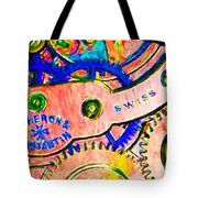 Time In Abstract 20130605p180 Long Tote Bag