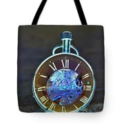 Time In The Sand In Negative Tote Bag
