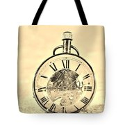 Time In The Sand In Sepia Tote Bag