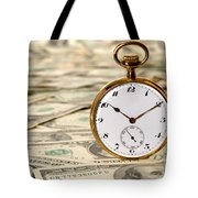 Time Is Over Money Tote Bag