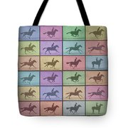 Time Lapse Motion Study Horse Color Tote Bag