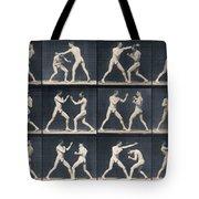 Time Lapse Motion Study Men Boxing Tote Bag