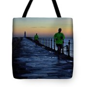 Time Lapse Runner Tote Bag