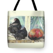 Chicks Taking A Time Out Tote Bag