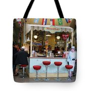 Time Out Snack Bar In Bath England Tote Bag