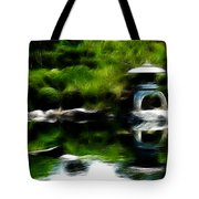 Time Slows For Meditation Tote Bag