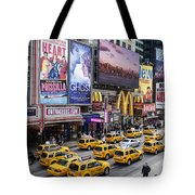 Time Square On A Week Day Tote Bag