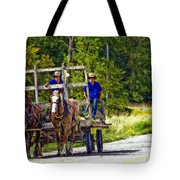 Time Travelers Impasto Tote Bag