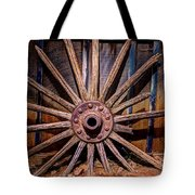 Time Worn Wheel Tote Bag