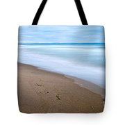 Time - Zmudowski State Beach In Monterey County Ocean Slow Waves. Tote Bag