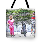 Timeless Activities - Trouting - Children - Summer Fun Tote Bag