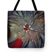 Timeless Elegance-floral Fractal Design Tote Bag