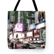 Times Square At Night Tote Bag